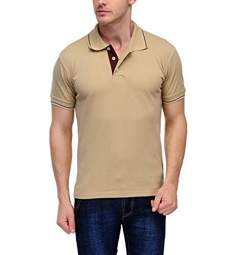 Scott Men's Premium Cotton Polo T-shirt – Beige