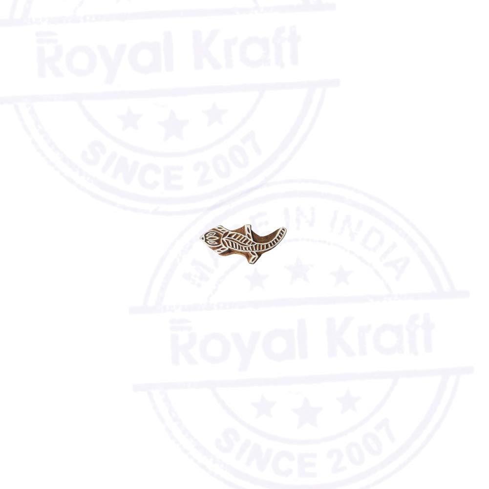 Jaipuri Eagle Bird Shape Wood Print Textile Block DIY Henna Fabric Textile Paper Clay Pottery Block Printing Stamp
