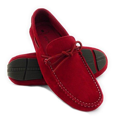 Zerimar Chaussures en Cuir Pour Homme Chaussure Homme Hiver Couleur Rouge Taille 41