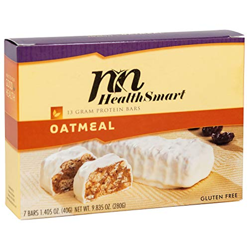 HealthSmart - High Protein Diet Bar - Oatmeal - 13g Protein - Low Calorie - Gluten Free (7/Box)