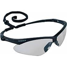 Jackson Safety 25685 V30 Nemesis Safety Glasses, Indoor/Outdoor Lenses with Black Frame