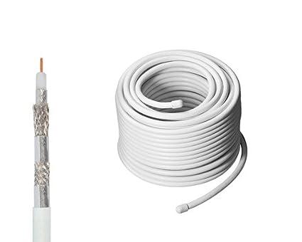 Manax - Cable coaxial para antena digital, satélite y 3D (120 dB, 30