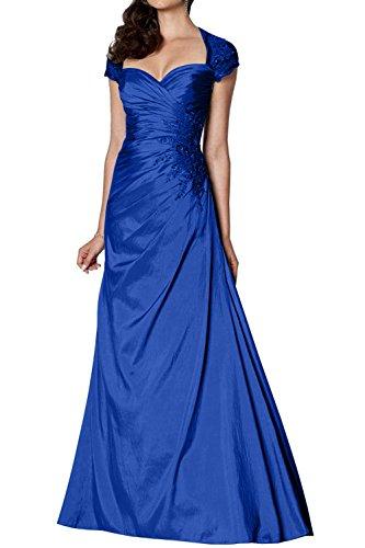 Formalkleider Kurzarm Blau Royal Linie Hell Damen Abendkleider Formalkleider Gruen Charmant Festlichkleider A Brautmutterkleider 7qtwvPO