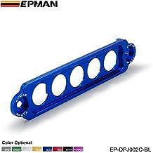 EPMAN Racing Jdm Style Aluminum Battery Tie Down For Honda Civic / CRX (Blue)