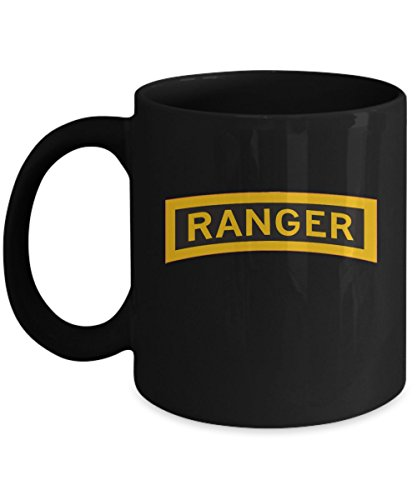 - Army Ranger Coffee Mug - Ranger Tab - Black/White/11oz/15oz
