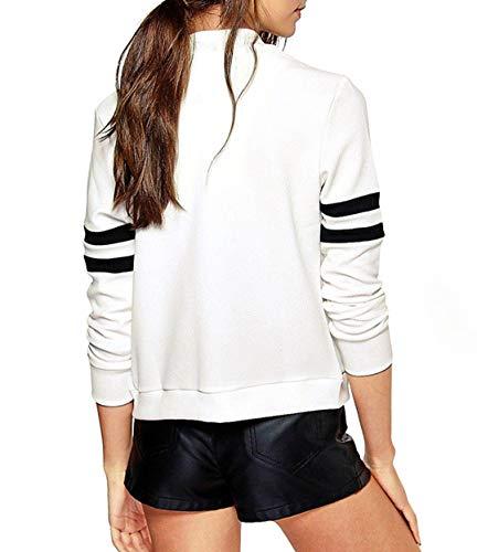 Giacca Corto Outerwear Moda Lunga Coat Tops fashion Simple Manica Quotidiani Casual E Donna Bomber Jacket Giacche Patchwork Cappotto Autunno Bianca Blouse Primavera zawUp7aqP