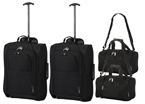 Set of 4-2x Ryanair Cabin Carry On 35x20x20 & 2x Approved 55x40x20cm Hand Luggage Set - Carry Both!