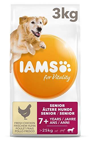 IAMS for Vitality Senior Hundefutter trocken – Trockenfutter für ältere Hunde ab 7 Jahre, geeignet für große Hunde, 3 kg