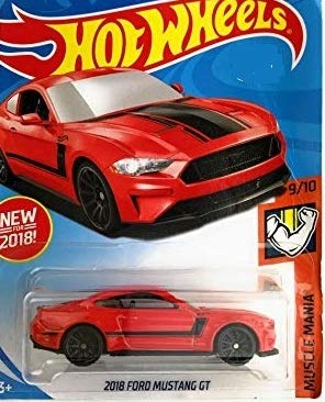 (Hot Wheels 2018 50th Anniversary 2018 Ford Mustang GT 337/365, Red)