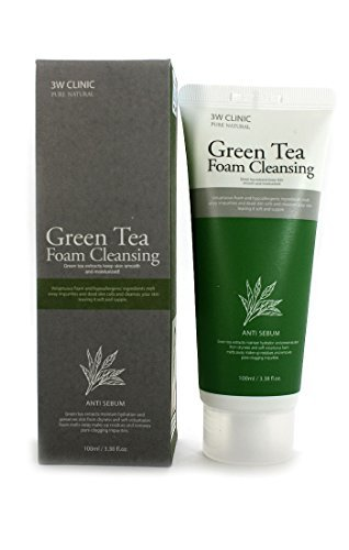 Price comparison product image 3W Clinic Pure Natural Green Tea Foam Cleansing 100ml(3.38fl. oz)
