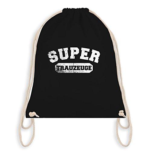 JGA Junggesellenabschied - Super Trauzeuge Vintage - Turnbeutel I Gym Bag Schwarz
