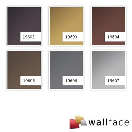 Revestimiento mural aspecto metal WallFace 19605 Brown matt liso Panel de pared unicolor mate autoadhesivo resistente a la abrasión marrón 2,6 m2: ...