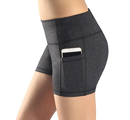 Azale Women's Active Fitness Yoga Running Exercise Workout Shorts with Side Pocket M
