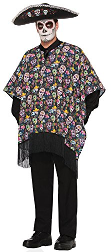 Day Of Dead Cape (F77145 Day Of The Dead Serape)