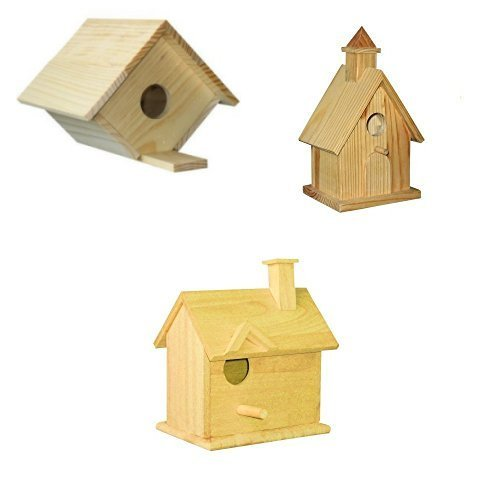 3 Assorted Bird House Kits - Assortment II by CraftKitsAndSupplies