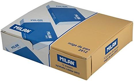Caja de 12 Gomas miga de Pan MILAN Rectangular Envuelta con Carton Color Blancas: Amazon.es: Electrónica