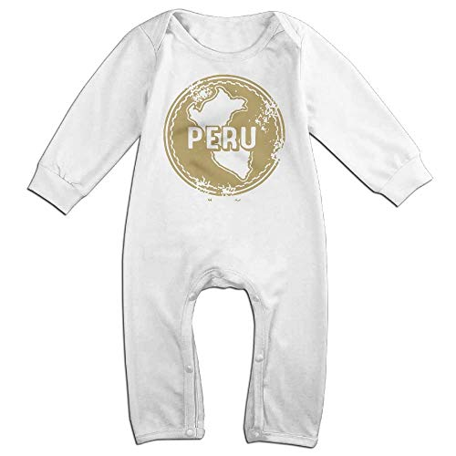 (TYLER DEAN Baby Boy Girl Coverall Peru Stamp Clipart Toddler Jumpsuit White)