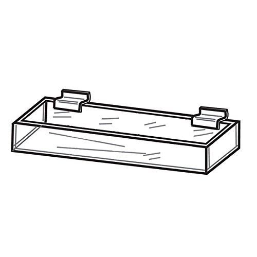 (EZ-Mannequins Acrylic Tray - Slatwall Shelves Compartment Tray - Slatwall Accessories for Candy Display and Other Small Items - 1 Compartment Tray)