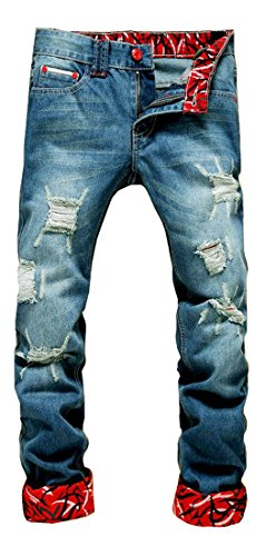 NITAGUT-Mens-Ripped-Slim-Fit-Tapered-Leg-Jeans