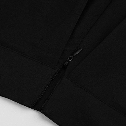 la Sixcup vase Midi Casual Fille sous Jupe Vintage au Nior Midi Jupe Cocktail Haute Genou Poche plisse lgante Jupe Femmes Basique Taille ffaqxCB