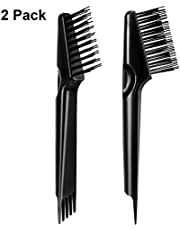 Hair Brush Cleaning Tool Hair Brush Cleaner Rake for Removing Dirt Home and Salon Use, Black (2 Packs)