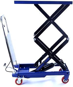 700 mm Hubh/öhe 740 x 450 mm Plattform Hubtischwagen fahrbarer Hubtisch 150 kg