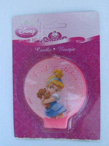 Disney Princess Baby 1st Birthday Cake Candle 1ct