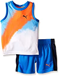 PUMA Boys' Active Tank and Short Set