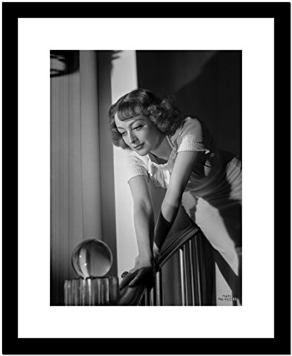 Joan Crawford Holding on the Railings in a Classic Portrait Premium Art (Classic Railing)