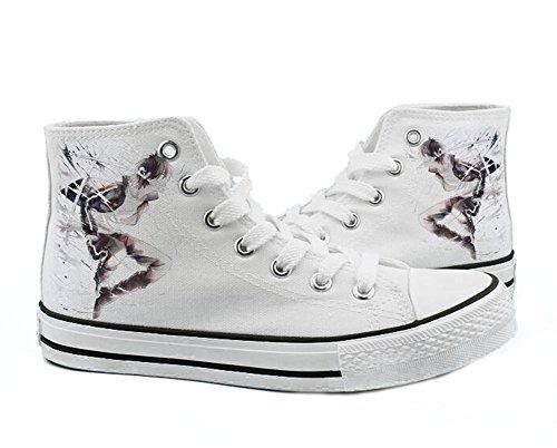 Noragami YATO Yukine Schuhe Cosplay Leinwand Schuhe Sneakers Schwarz / Weiß Weiß 1