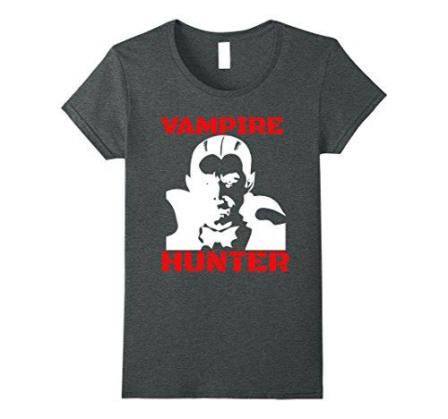 Costumes Vampire Slayer Halloween (Womens Vampire Hunter Slayer Funny T-Shirt Small Dark)