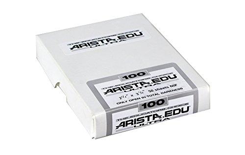 Arista EDU Ultra 100 ISO Black & White Film, 2.25x3.25, 50 Sheets