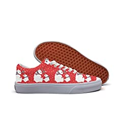 Christmas Red Cute Polar Bears Women's Casual Shoes Skateboard Customize Print Designer