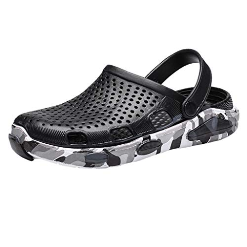 Men's Summer Hole Shoes Sandals Breathable Casual Outdoor Non-Slip Beach Slipper