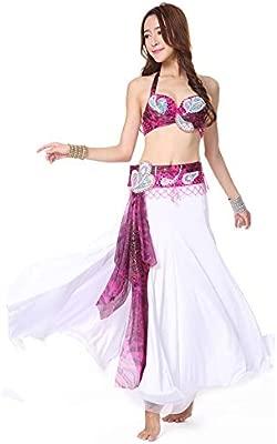 Qichengdian Falda de Danza del Vientre para Mujer Traje De ...