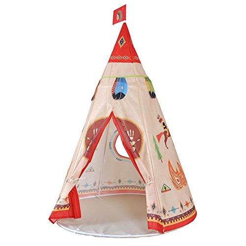 PericrossTM Indianertipi Anti-Kratz Kinder Spielzelt 1 Fenster (AUS NONVWOVEN FABRIC WIE PP Tasche)