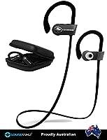 Bluetooth Headphones Wireless Sport Earbuds - SoundWhiz Sweat Proof Running Headphones - w Mic & Siri. Best In Ear Sport Earphones 8 Hours Play