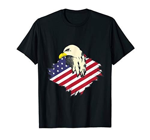 Patriotic Eagle T-Shirt 4th of July American USA Flag Tee
