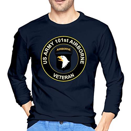 NVSHENYU U.S. Army Veteran 101st Airborne Division Men Long Sleeve T-Shirt Army T-Shirt ()