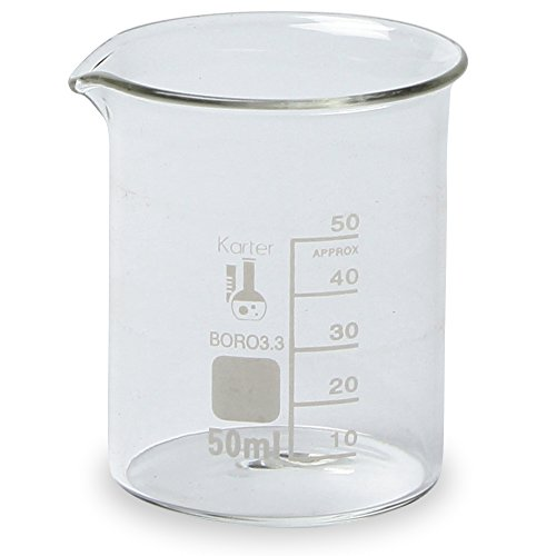Glass Beakers, 50ml Pack of 12, used for sale  Delivered anywhere in Canada