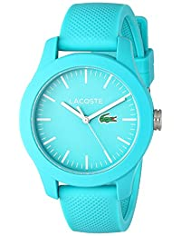 Lacoste Women's 12.12-Feet Quartz Resin and Silicone Automatic Watch, Color: Blue (Model: 2000958)