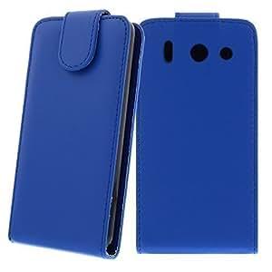 Ligera Funda plegable para Huawei Ascend G510 Azul - Piel artificial