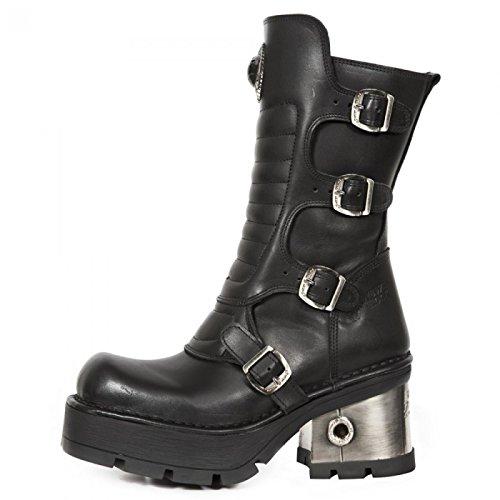 Nuovi Stivali Di Roccia M.373qx-s3 Gotiche Damen Punk Hardrock Stiefel Schwarz