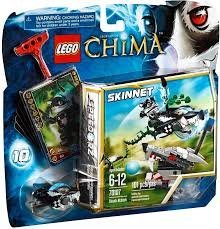 Game / Play LEGO Chima 70107 Skunk Attack, Features wolf head with target, skunk Speeder, ripcord, power-up Toy / Child / Kid