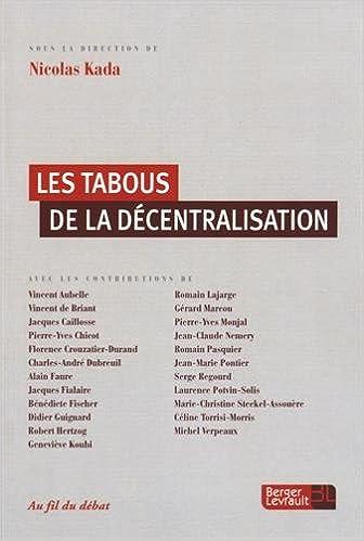 Livres gratuits Les tabous de la décentralisation epub pdf
