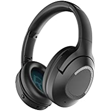 Wellcows Noise Cancelling Bluetooth Headphones, iDeaPLAY Wireless Headphones with Microphone Over Ear Headphones for TV, Airplane, HiFi Stereo Sound - Black