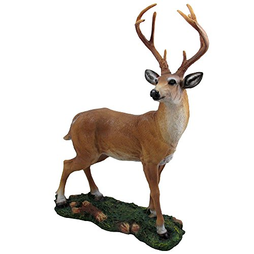 Decorative Big Buck Statue in Rustic Lodge Sculptures and Cabin Decor Art, Forest Animal Figurines and Deer Gifts for Hunters or Outdoorsmen ()