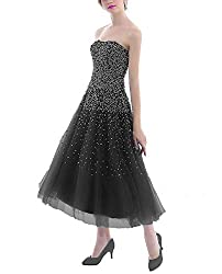 Sort Dress With Rhinestones Evening Gown