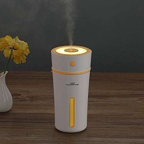 - DSLSM 300ML Miniskirt Portable Cup Shape USB LED Night Light Supersonic Humidification Air Humidifier for Home/Office/Car (Color : Yellow)