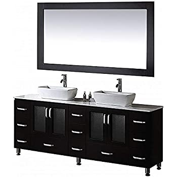 Design Element Stanton Double Vessel Sink Vanity Set With